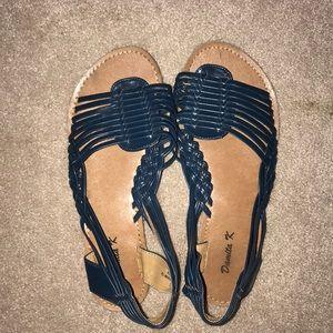 Shoes - Deep blue sandals
